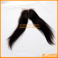 "FREE SHIPPING middle part  virgin Mongolian hair  lace  closure swiss lace 4""*3.5"" straight  no shedding, no tangle"