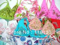 special wholesale 100sets embroidered bikini sets, sexy swimwear swimsuit beachwear DHL/Fedex free shipping