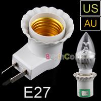 LED Light Bulb Lamp Socket Base Holder E27 to AU US Plug Adapter Converter New   [12293|01|01]