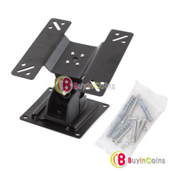 "Swivel 14"" to 24"" Flat Panel TV Monitor LCD Wall Mount Bracket Angle Adjustable [22426