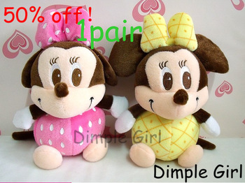 small kawaii plush toys minnie mouse stuffed animal soft doll for baby girl birthday gift for kids girlfriend car accessories