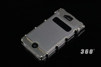 For IPhone 5 5G Stainless case Aluminum flip 360 roatte case, original Box + free shipping
