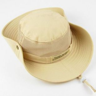 2013 breathable outdoor bucket hat summer fishing cap male women's sunscreen large sun-shading hat(China (Mainland))