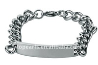 Topearl Jewelry 316 Stainless Steel Curve Chain Bracelet MEB717