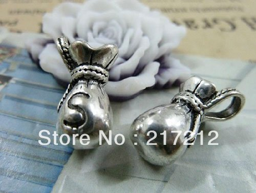 10pcs/lot New Wholesale vintage silver lovely mini 3d purse metal alloy charm pendants 10*16mm Metal Jewelry Components(China (Mainland))