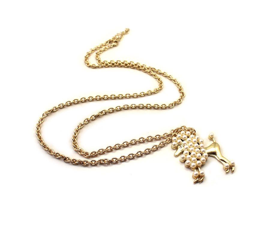 Free shipping 2013 fashion pet dog rich long design necklace gh(China (Mainland))
