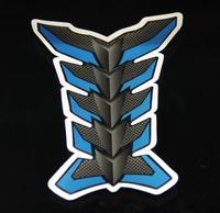 Free Shipping Car Motorcycle Motorbike Carbon Fiber Resin TankPad Protector Blue Gray