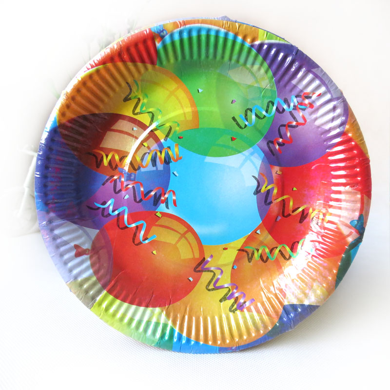 Free shipping, Cartoon eco-friendly disposable paper plate birthday supplies byelaya child birthday party supplies(China (Mainland))
