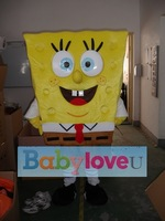 Free Shipping Spongebob Mascot Costume, Advertising Costume Free Shipping Accept Drop Shipping