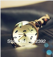 Free Shipping Hot Sale JULIUS Lady Fashion Watch Leopard Small Size Leather Band Round Special Charm Women's Watch JA-254