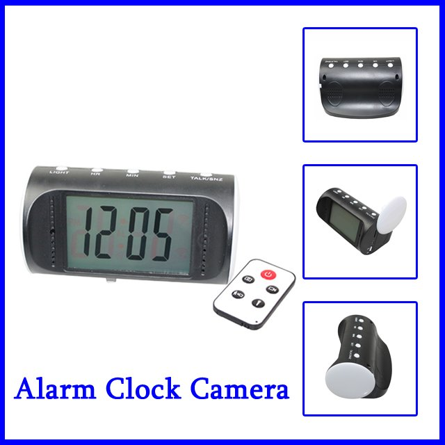 Digital Clock Hidden Camera DVR Motion Detection Alarm Video Recorder Security CMOS(China (Mainland))