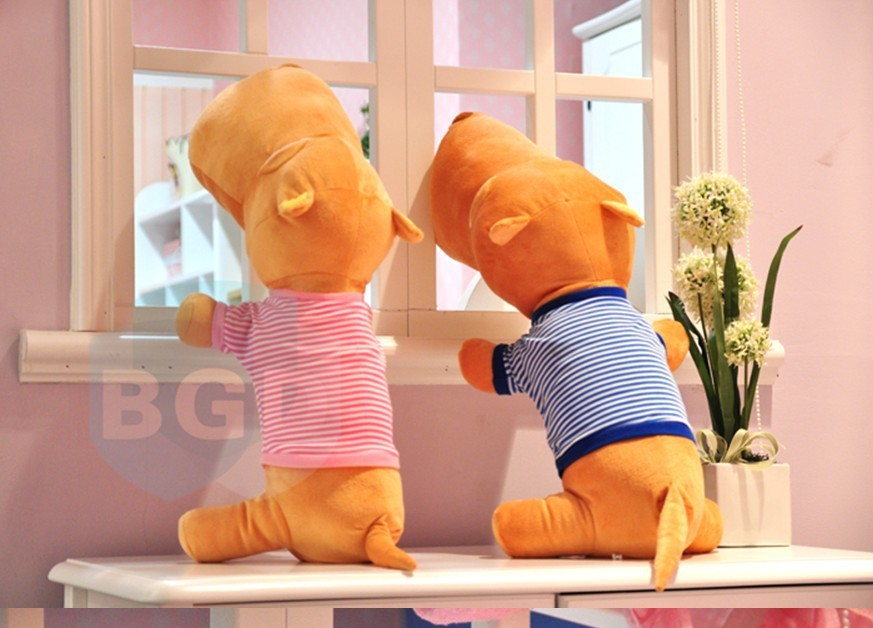 Plush toy cushion big head dog 0.8 meters gift pillow dog doll.Free shipping(China (Mainland))