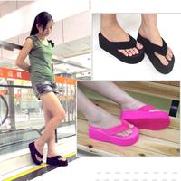 Fashion platform flip flops female slippers women's platform wedges shoes high heel flip flops shoes