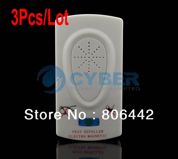 Cheap 3Pcs/Lot Ultrasonic Electronic Pest Mice Bug Mosquito Insect Repeller AU Plug TK0643(China (Mainland))