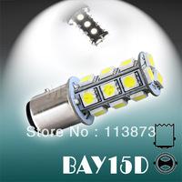 2pcs 1157 BAY15D P21/5W 18 SMD 5050 Pure White Tail Turn Signal 18 LED Car Light Bulb Lamp 12V