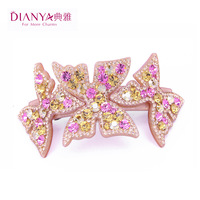 Elegant oktant rhinestone hair accessory crystal spring clip hair maker  clip hair pin 04002