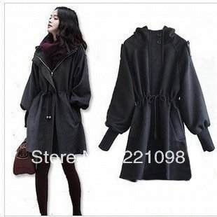 women wool coat new fashion trench coat outerwear overcoat outdoor poncho windbreaker plus size winter jacket(China (Mainland))