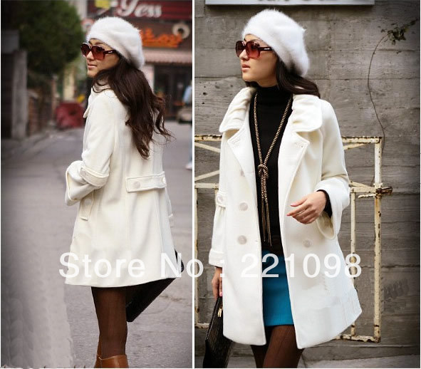windbreaker Long Jacket Hot Sale wool coat women winter outdoor trench coat outerwear overcoat(China (Mainland))
