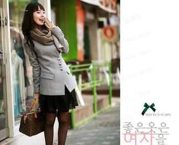 2013 New hot women's single breasted long slim wool suit coat woolen suit women slim medium-long wool woolen coat 2 Colors