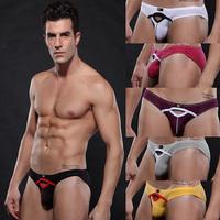 Mesh summer Breath Sport Underwear Briefs for Men with Hole low waist Sexy Undies 2pcs/lot Size S M L  XL Free shipping