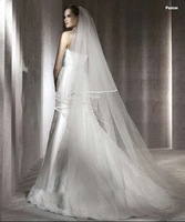 3 meters top design long bride wedding veil train wedding dress veil