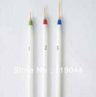 FREE SHIPPING 3 Sizes White Bar Nail Pull Pen/ Nail Drawing Pen Nail Brush Striping Pen NA102