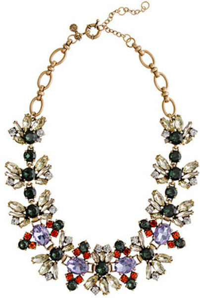 New spring Fall floral crystal necklace & New Fall Delicate crystals leaves J.C necklace wholesale price freeshipping(China (Mainland))