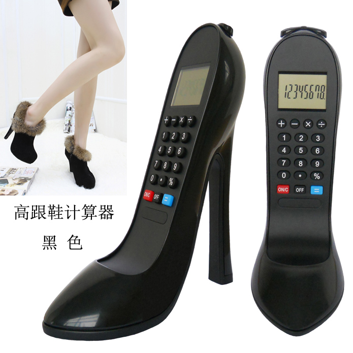 The appearance of personality high-heeled shoes calculator fashion cartoon computer(China (Mainland))