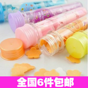 10 picecs/lot 2309 travel test tube soap flower portable soap paper rose paper soap bath tablets free shipping(China (Mainland))