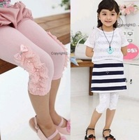 wholesale 5pcs children clothing girl's lace short pants free shipping