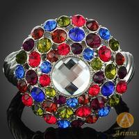 Arinna Jewelry 2013 Fashion Europe beads Bangles Bracelet Jewelry wholesale! Fancy Crystal bangle for women B1087