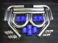 """3"""" INCH ALUMINUM TURBO INTERCOOLER PIPING KIT PIPES CLAMP COUPLER UNIVERSAL"""