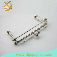 13*7.3cm concise nickel metal handbag  frame with kiss lock