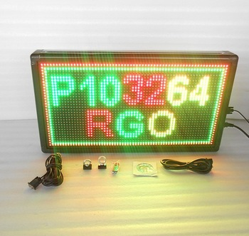 Indoor &semi-outdoor LED display LED Scrolling Display LED message board P10 32x64 dots tri-color colorful display manufacturer