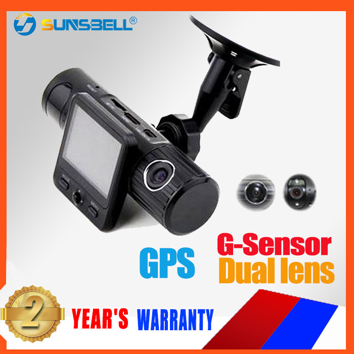 X6000 Dual Lens Black Box with GPS ,G-Sensor Car Dvr Full HD 1080P Dual Lens Car video camera 5.0 Mega hd mini sport dvr(China (Mainland))