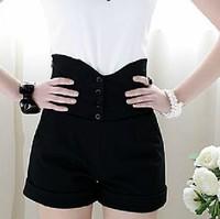 2013 Summer New Shorts Korean Black Wild High Waist Women's Shorts S-XL Free Shipping