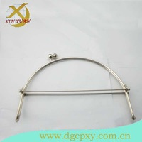 23.5*16cm concise nickel metal handbag  frame with kiss lock