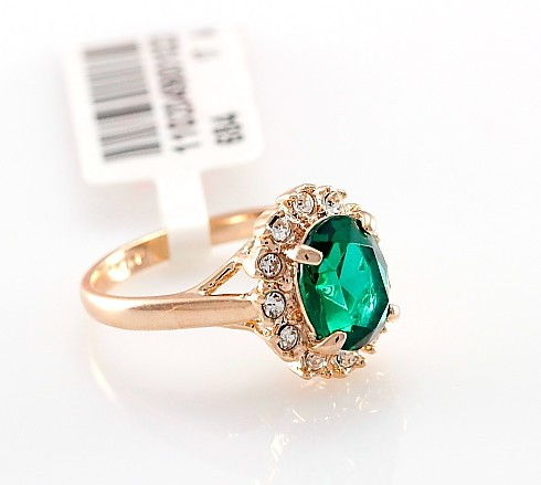 Authentic wholesale rings emerald fashion ring(China (Mainland))