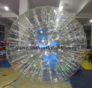 TPU water zorb ball\grass ball\glowing ball\inflatable zorb ball, inner dia 2m, outer dia 3m, TPU 1.0mm, free CE certificate