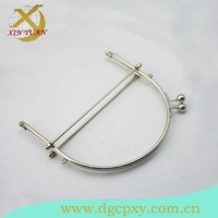 15*14.5cm concise nickel metal handbag  frame