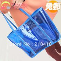 2013 women's handbag fashion jelly transparent  handbag women's big blue bags cross-body shoulder bag hot selling free shipping