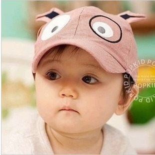 Free shipping Animal style child cap baseball cap infant baby hat mesh sun-shading spring and summer hat -1a08c(China (Mainland))