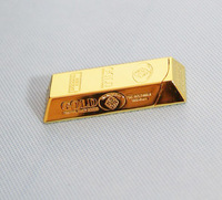 Free Shiping Gold Bar Shaped Bullion Butane Gas Cigarette Tobacco Lighter
