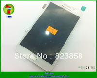 1pcs/lot  Original Free shipping  white  color for samsung galaxy Note 2  n7000 lcd displa + touch screen digitizer+frame