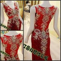 Ultimate luxury crystal formal dress formal dress toast the bride married formal dress evening dress xj661109