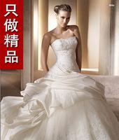 2013 sweet princess tube top quality lace train wedding dress