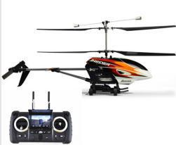Remote Control helicopter  FPV 2.4GHz 4CH Invader rc Helicopter Real time Image with camera LCD Free Shipping by EMS
