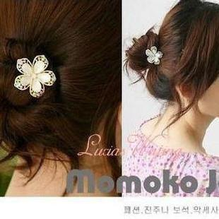 Popular rhinestone 6052 crystal flower hair stick hair accessory(China (Mainland))