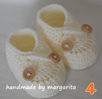 Crocheted Baby Slippers Pattern - Crochet and Knitting