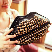 2014 women's handbag fashion rivet bag chain shoulder bag small messenger bag cute small bag